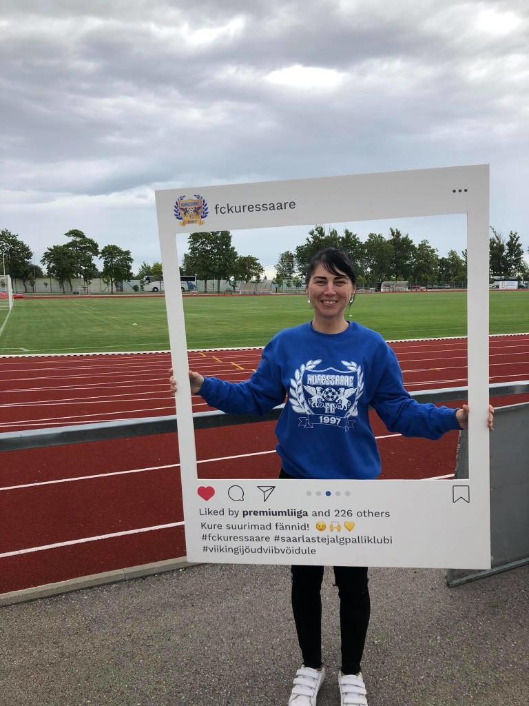 Evelin Mesila FC Kuressaare vabatahtlikuna. Allan Mehik