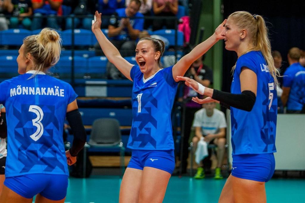 Nette Peit rõõmustamas. volley.ee