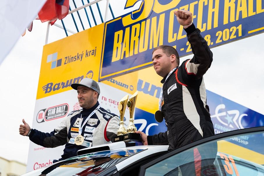 Torn-Pannas ERC Barum 2021 ERC Junior võitjad.